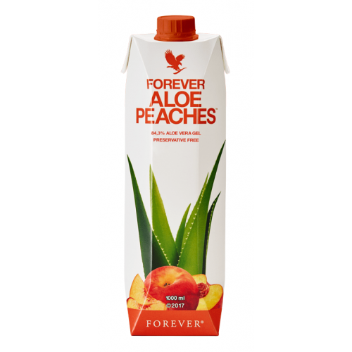 Forever Aloe Peaches, aloes do picia z brzoskiwniami 1 litr, aloes firmy Forever w kartonie