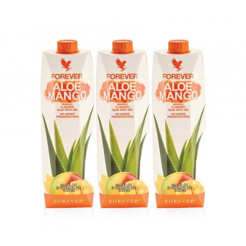 Forever Aloe Mango Trójpak - aloes forever z mango w kartonie