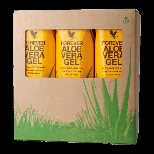 Forever Aloe Vera Gel trójpak - # sztuki Aloe Vera gel w kartonie